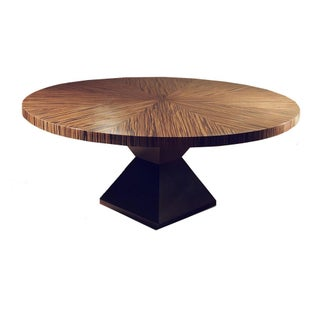 Joel Dessaules Kalahari Ebony & Oak Round Dining Table