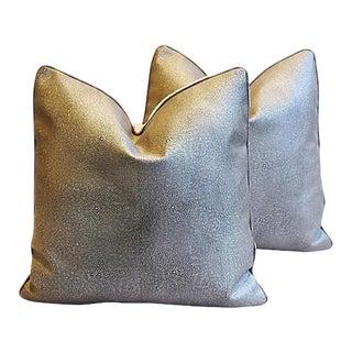 Custom Tailored Eldeman Stingray Leather Feather/Down Pillows - Pair