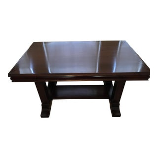Cowan of Chicago Mahogany Library Table