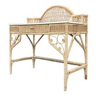 Wicker Writing Desk