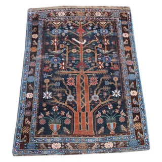 "Antique Persian Bakhtiari Rug - 4'4""x 5'11"""