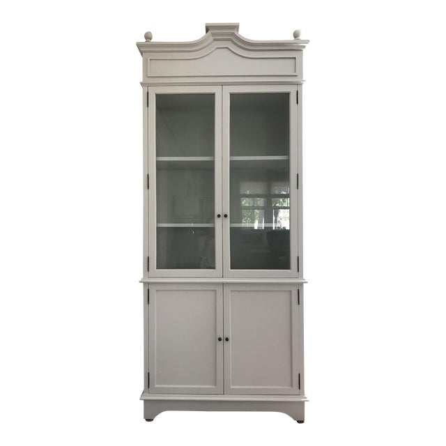 Tall Oly Swedish Style Glass Door Cabinet - Image 1 of 10