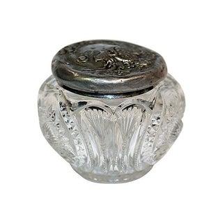 Victorian Pressed Glass Powder Jar