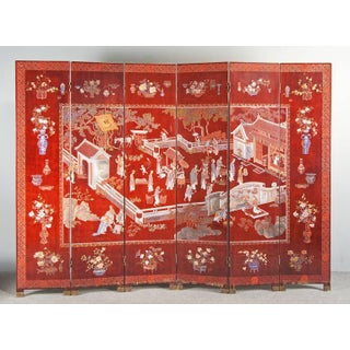 Art Deco Laquered Double-Sided Screen