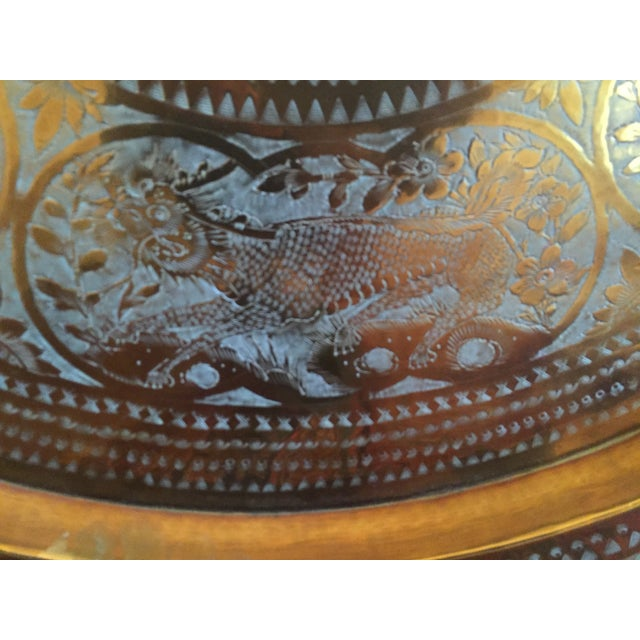 MCM Oriental Brass Tray Table - Image 7 of 10