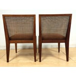 Image of Edward Wormley Cane Back Chairs - A Pair