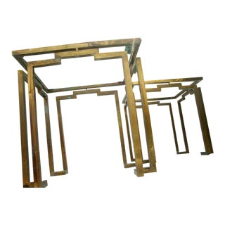 Pair of Brass Side Tables Attributed to Arturo Pani