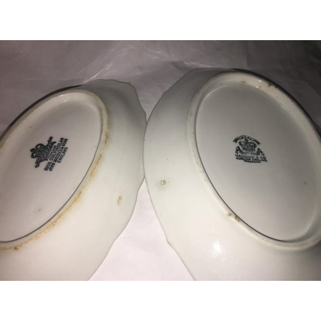 Image of John Maddock & Sons Semi Royal Porcelain Dishes - A Pair