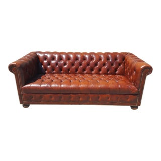 Vintage Chesterield Leather Sofa