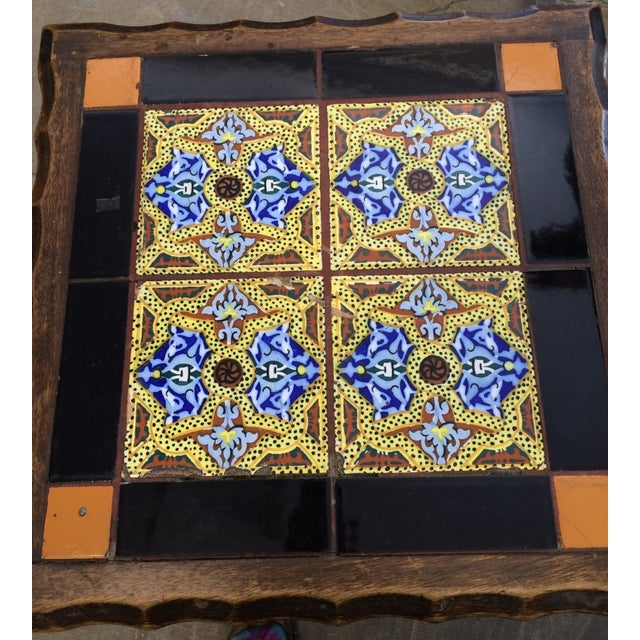 Antique Monterey Tile Table - Image 5 of 6