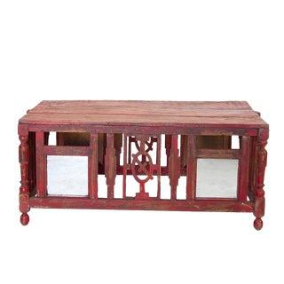 Vintage Red Cradle Table