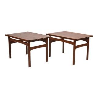 Tove & Edvard Klindt-Larsen Pair of Solid Teak Side or End Tables