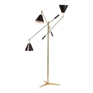 Rare Brass Triennale Floor Lamp by Angelo Lelli for Arredoluce