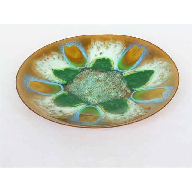Image of Edwards Star Enamel on Copper Dish