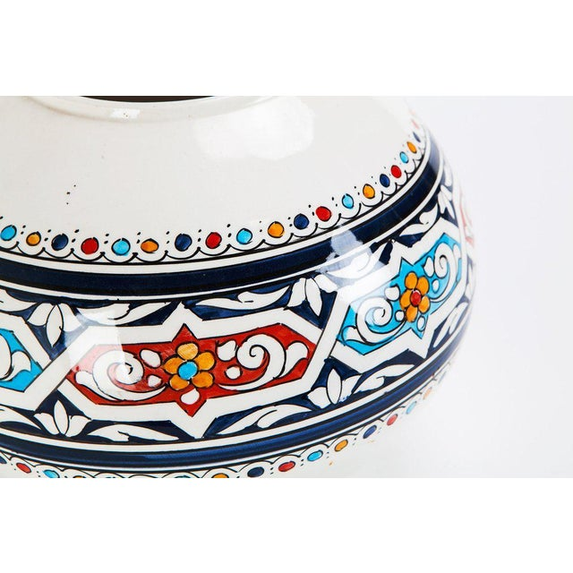 Moroccan Hand Painted Ceramic Globe Vase - Image 3 of 3