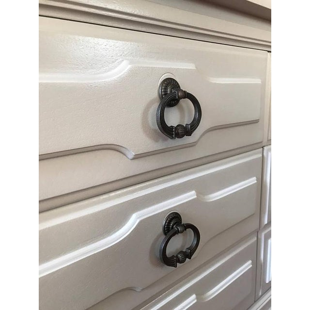 Soft Gray Drexel Mid-Century Dresser Buffet Sideboard - Image 8 of 11