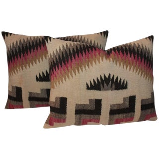 Pair of Geometric Navajo Weaving Pillows