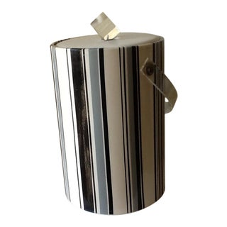 Vintage Striped Vinyl Ice Bucket