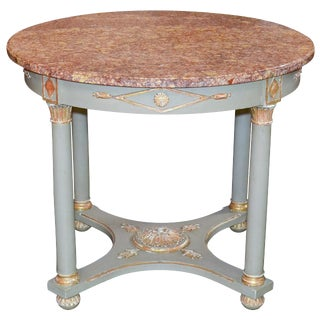 French Empire Parcel Gilt Occasional Table
