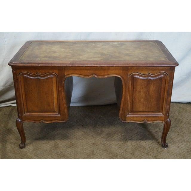 Vintage French Provincial Walnut Desk - Image 4 of 10