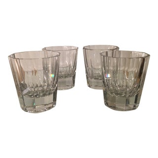 Art Deco Signed Baccarat Crystal Scotch Tumblers - Set of 3