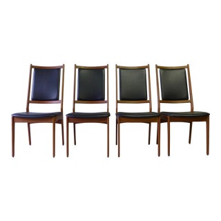 Teak Mid-Century Modern Danish Dining Chairs - Set of 4