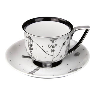 """""""Mythos"""" Coffee Cup with Saucer by Josef Hoffmann"""