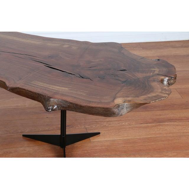 Solid Walnut Wood Slab Coffee Table - Image 6 of 10
