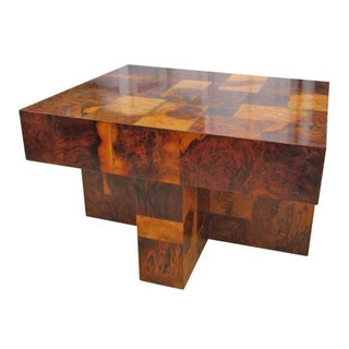 Paul Evans Geometric Wood Side Table