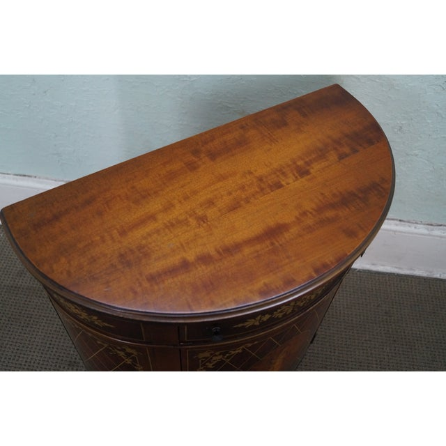 1940s Satinwood Paint Decorated Console Table - Image 7 of 10