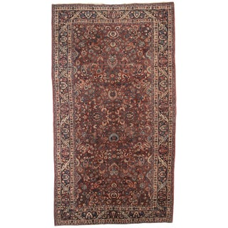 RugsinDallas Antique Persian Mashad Hand Knotted Wool Rug- 8′6″ × 16′