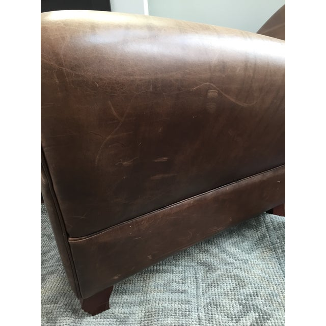 Room and Board Dark Brown Leather Recliner - Image 6 of 6