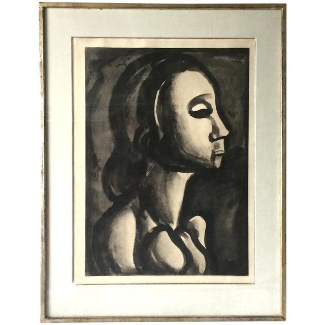 Georges Roualt Portrait of Woman 1922 - Image 1 of 5