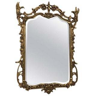 Giltwood Mirror with Eagle Motif