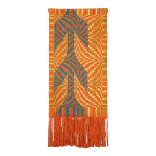Large Handwoven Fiberart Tapestery