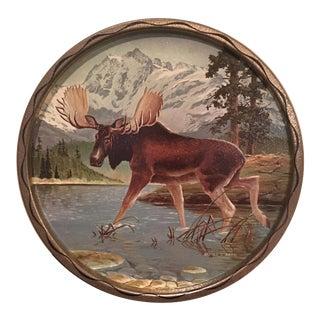 Vintage Tin Moose Platter