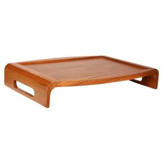 Mid-Century Wood Reversible Tray