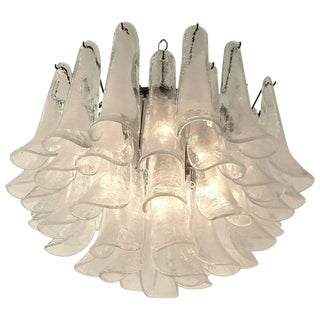Murano Glass Petal Chandelier From Mazzega