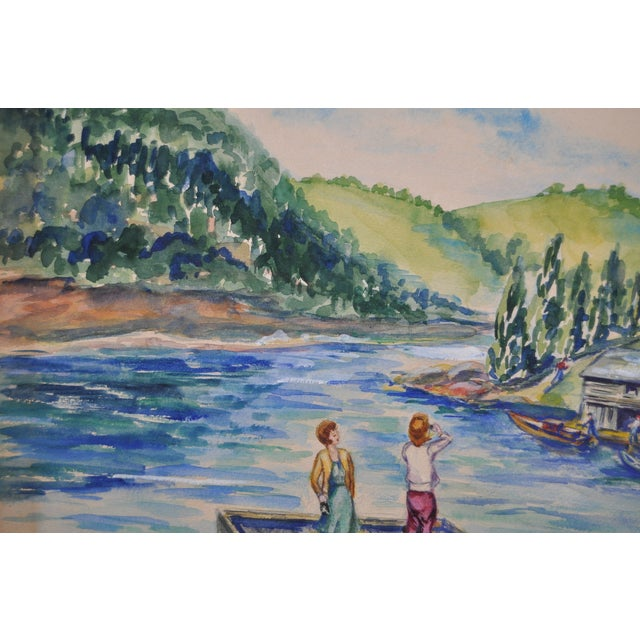 Orignal Watercolor by Frances Wells C.1950's - Image 4 of 8