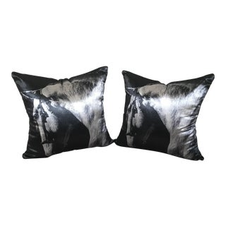 Pair of Velvet Decorative Pillows
