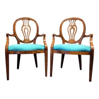 Henredon Natchez Collection Mahogany Chairs - A Pair