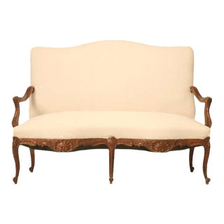 Circa 1880 Antique French Louis XV Settee
