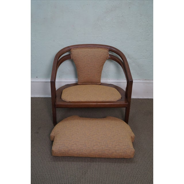 Image of Mid Century Modern Barrel Back Lounge Chair