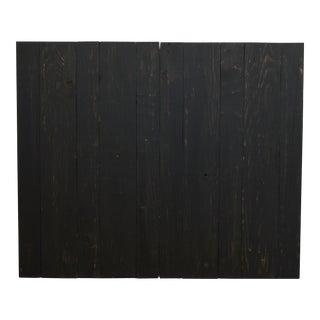 Twin Size Hanger Barn Walls Headboard in a Black Distressed Color