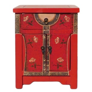 Red Oriental Dress Nightstand