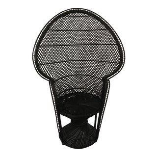 Onyx Rattan Peacock Chair