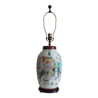 Antique Asian Famille Rose Lamp