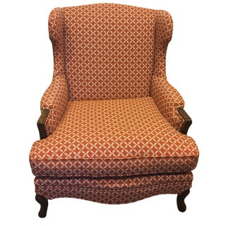 Trellis Upholstered Wingback Chair