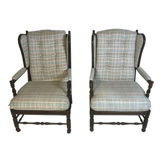 Ethan Allen Traditional Classic Arm Chairs - A Pair