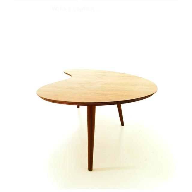 Mid-Century Walnut Boomerang Coffee Table